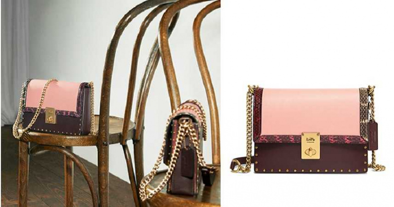 COLORBLOCK WITH SNAKE AND RIVETS JLO HUTTON SHOULDER BAG-PRINT/NT 23,800(圖/COACH提供)
