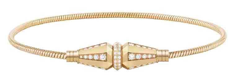 BOUCHERON「Jack」系列,黃金鑲嵌鑽石手鍊╱318,000元。(圖╱BOUCHERON提供)