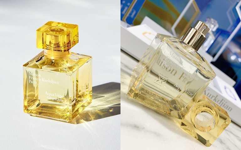 Maison Francis Kurkdjian生命之水古龍forte淡香精是柑橘花香調,經過調香師特調的溫暖太陽花,讓人覺得充滿活力。(圖/IG@patography_larder、吳雅鈴攝影)