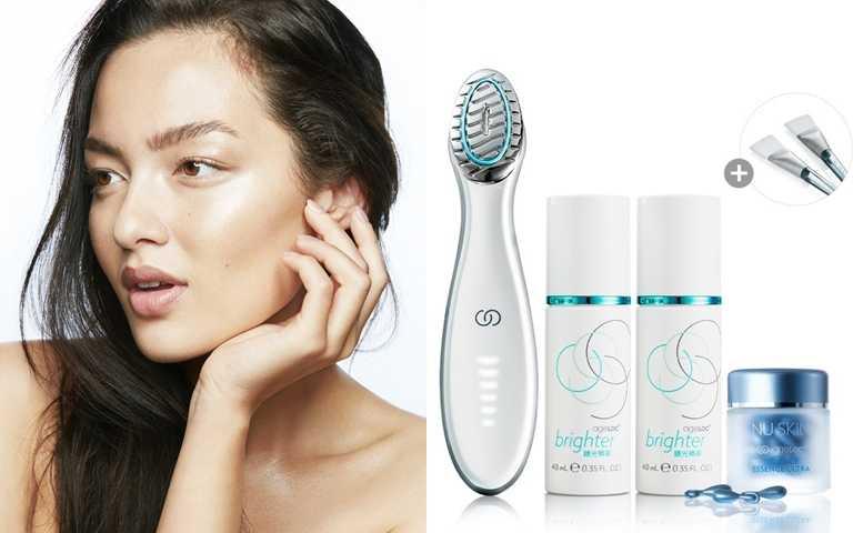 Nu Skin ageLOC Brighter人氣鎂光250分套裝/11,500元(圖/品牌提供)
