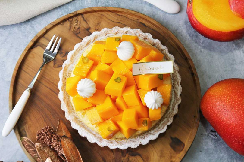 iSweets愛甜食「豔夏芒果塔」。(750元)