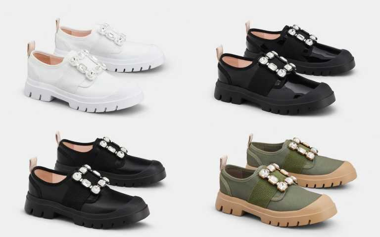 Roger Vivier Walky Viv 水晶寶石釦休閒鞋/45,900元(圖/品牌提供)