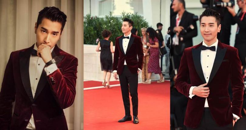 趙又廷身穿的BOSS天鵝絨禮服,是出席正式晚宴的首選!(圖/品牌提供)
