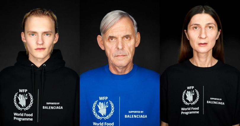 去年名人、明星們幾乎人手一件的BALENCIAGA X WFP聯名衫,這回再推第二波新企畫。(圖/BALENCIAGA)