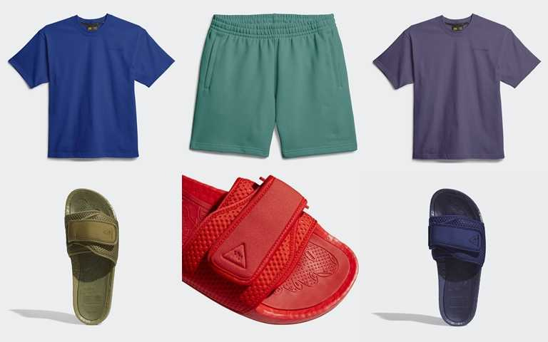 以人體輪廓為設計出發點,加上第二波全新配色的BOOST潮拖,系列極簡有型。(圖/adidas Originals)