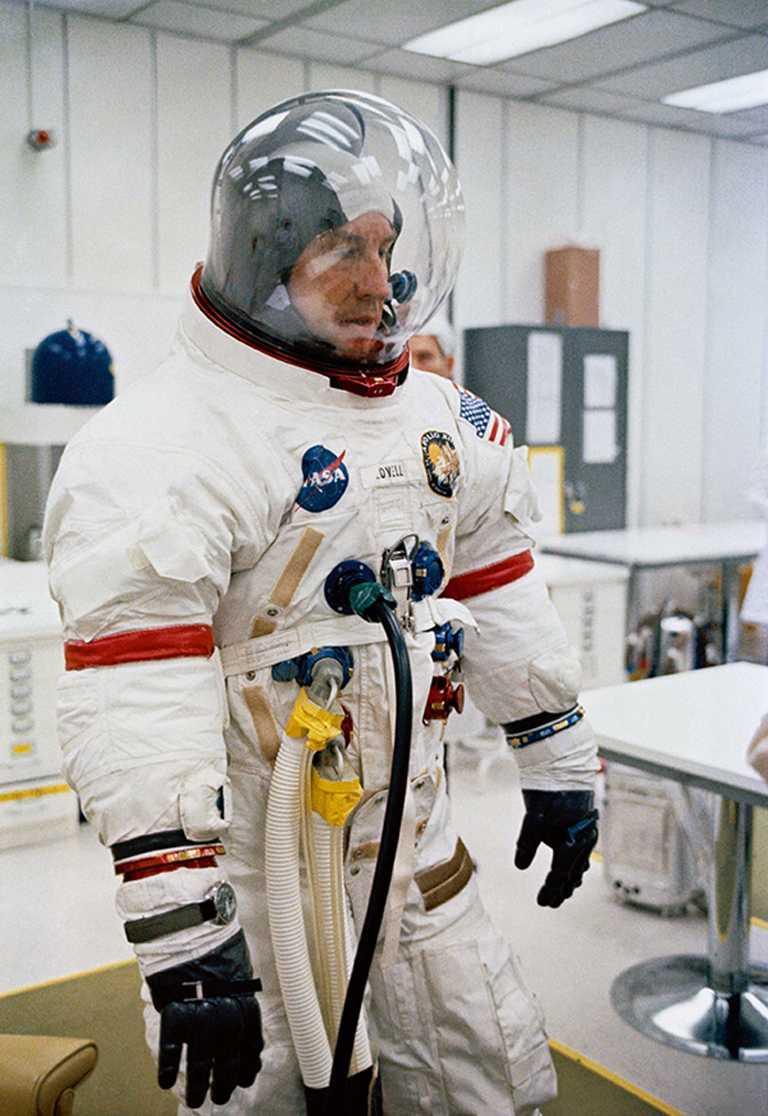 資深太空人洛威爾(James Lovell),於1970年4月11日,出任NASA阿波羅13號太空船升空時的任務指揮官。(圖╱OMEGA提供)