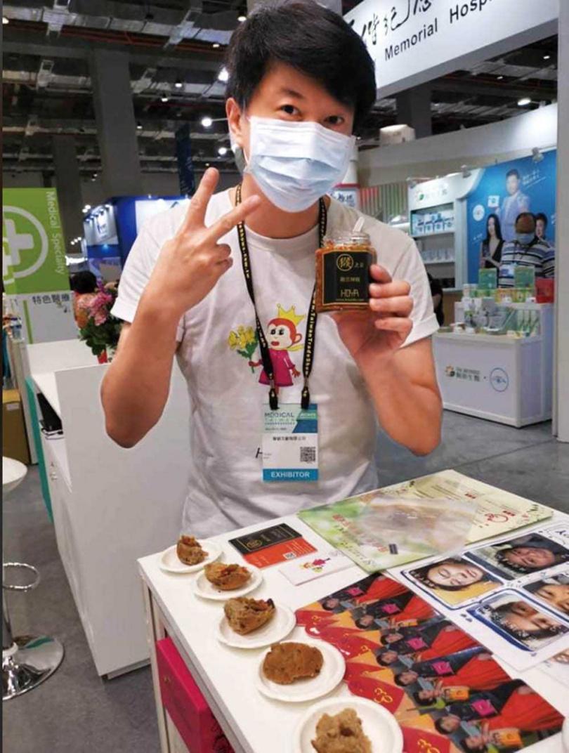吳皓昇親自出席品牌在展覽館的活動,為產品推銷不遺餘力。(圖/民視提供)