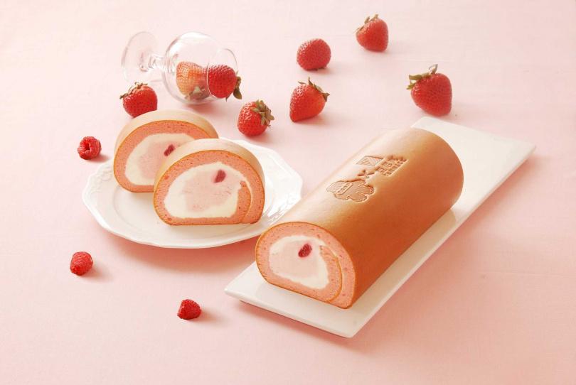 雪戀莓生乳捲。(圖/亞尼克提供)