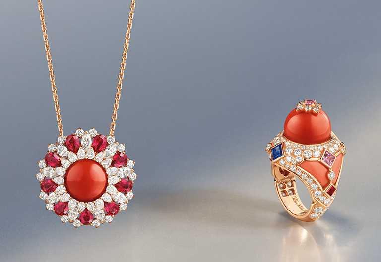Van Cleef & Arpels「Rose de Noël」系列「Ludo Secret」腕錶╱9,650,0000元。(圖╱Van Cleef & Arpels提供)