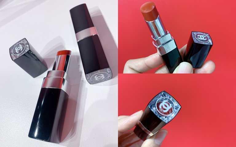 香奈兒COCO星綻唇膏3g/1,350元優雅銀色瓶身搭配上透明口紅蓋設計,更方便妳直接分便顏色。(圖/吳雅鈴攝影)