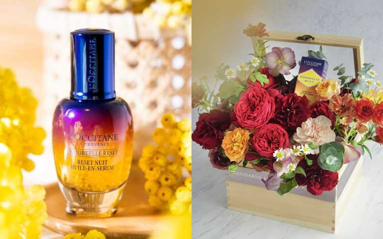 同場加映!史上最美的星光瓶禮盒登場~~這款跟文華國際花苑聯手推出的母親節浪漫花禮,華美又大氣,定價5,880元。(圖/品牌提供)
