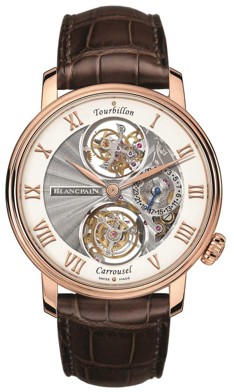 BLANCPAIN「卡羅素陀飛輪」腕錶╱10,158,000元。(圖╱台北101提供)