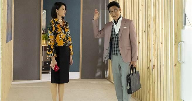 夏靖庭(右)、曾珮瑜劇中互別苗頭,好演技衝出高收視。(圖∕華視提供)