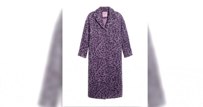 Kate SpadeBrushed Leopard Overcoat紫丁香豹紋大衣/37,600元