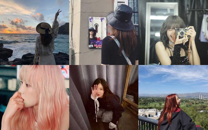 (圖/翻攝自IG@hyunah_aa、lalalalisa_m、taeyeon_ss、yoona__lim、sooyaa__)
