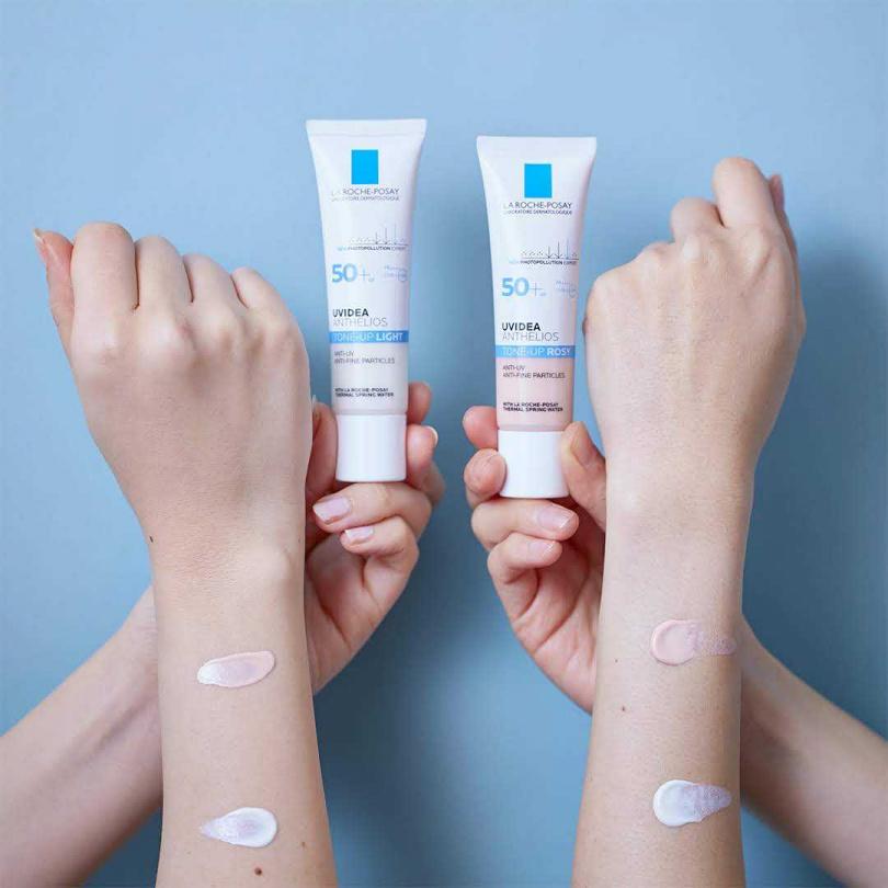 理膚寶水有多種顏色的防曬隔離乳可選!最新顏色是潤澤玫瑰新色,擦上後避免暗沉,讓你防曬隔離同時提亮膚色,解決膚色不均與敏感泛紅問題。理膚寶水全護清透亮顏妝前防曬隔離乳SPF50 + PA++++ 30ml/980元(圖片/品牌提供)