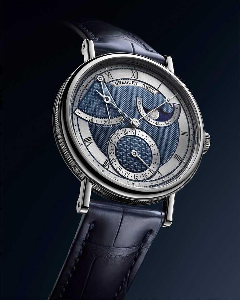 BREGUET「Classique經典系列7137月相腕錶」,18K白金錶殼,錶徑39mm╱1,288,000元。(圖╱BREGUET提供)