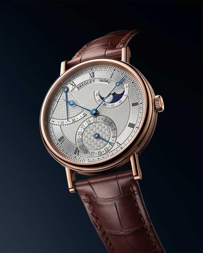 BREGUET「Classique經典系列7137月相腕錶」,18K玫瑰金錶殼,錶徑39mm╱1,288,000元。(圖╱BREGUET提供)