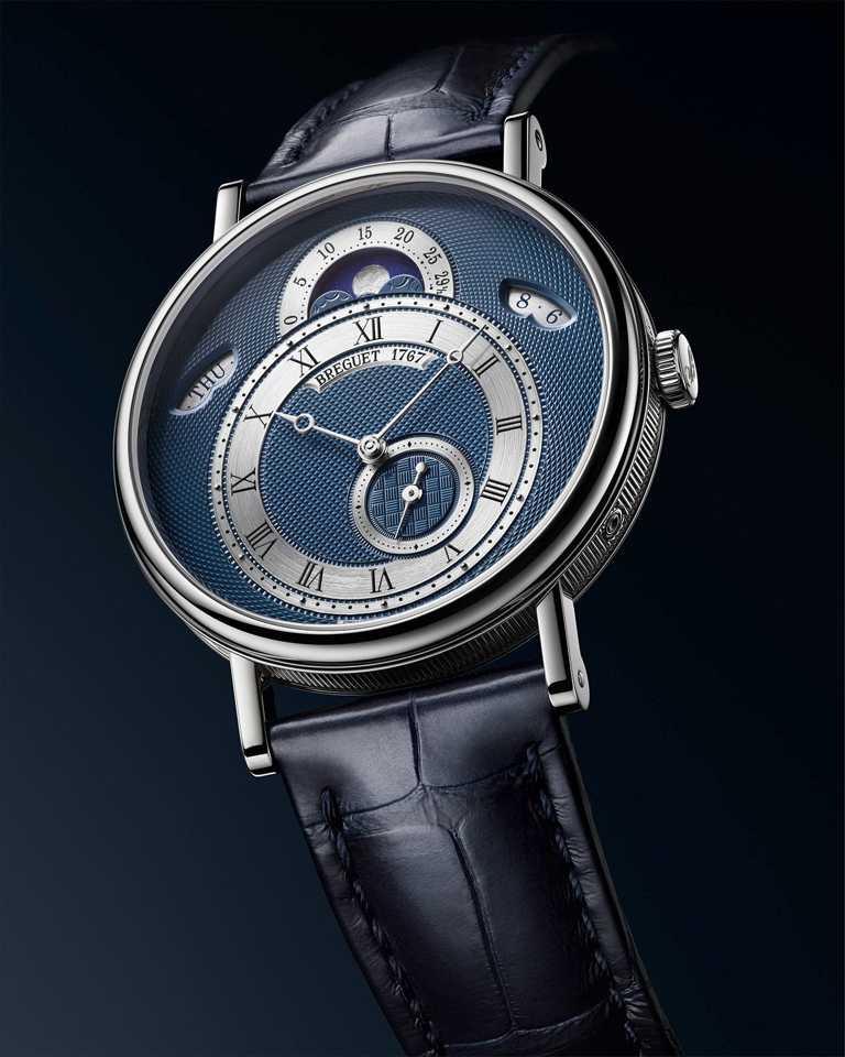 BREGUET「Classique經典系列7337月相腕錶」,18K白金錶殼,錶徑39mm╱1,388,000元。(圖╱BREGUET提供)