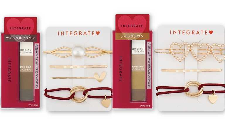 INTEGRATE極緻立體四色眉粉盒贈髮飾組2.5g/268元  因為兩款色號附的髮飾組都不一樣,小編覺得乾脆一次全包比較快XD。(圖/品牌提供)