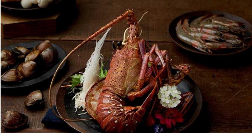 野生海龍蝦在店內也吃得到。(圖/高雄麗尊酒店提供)