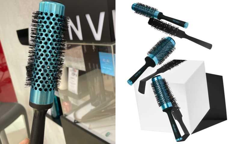 觸感極佳的止滑握把,讓吹整頭髮時更容易使用。符合人體工學、超輕量且完美的平衡。 獨特「磁性握把蓋」能垂直吸附在鐵材質的層板或桌面上,居家收納更容易。PAUL MITCHELL 鈦恆溫智能圓梳/ NEURO ROUND, 3.3cm / S / 800元;4.3cm / M /800元;5.3cm / L /900元(圖/品牌提供)