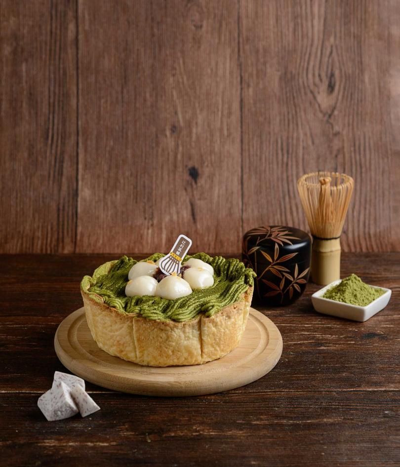「PABLOX辻利茶舗 抹茶芋泥起司塔」售價598元,因製作需較長時程,建議提前預訂。