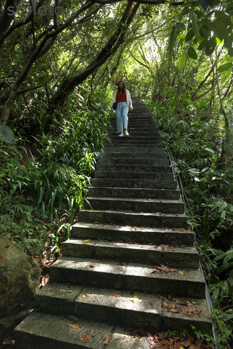 來回約兩小時內可完成的山尖步道,林蔭茂密,生態豐富。(圖/于魯光攝)