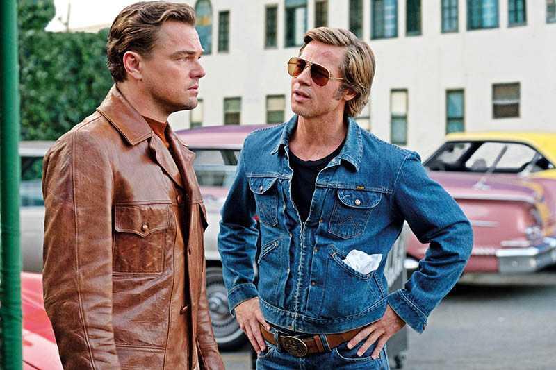 入圍10項的《從前,有個好萊塢》,讓2大好萊塢男神首度銀幕同框。(圖/双喜電影提供)