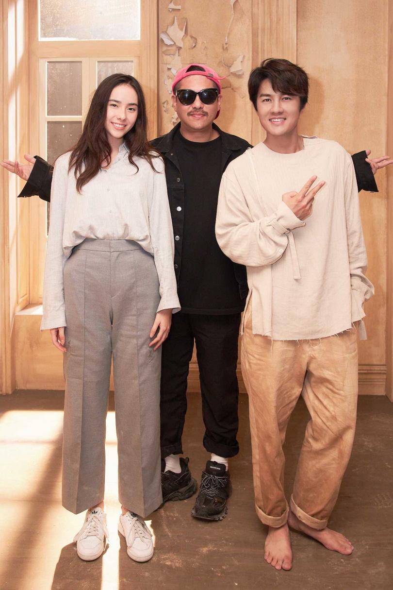 吳克群(右)新歌MV由名導比爾賈(中)執導。(圖/和樂音樂提供)
