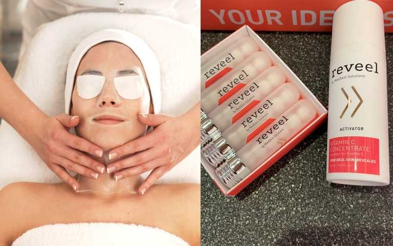 德國護膚品牌reveel理妍醫技《頂級煥白晶瓷膠原課程》(圖/黃筱婷攝影、品牌提供)