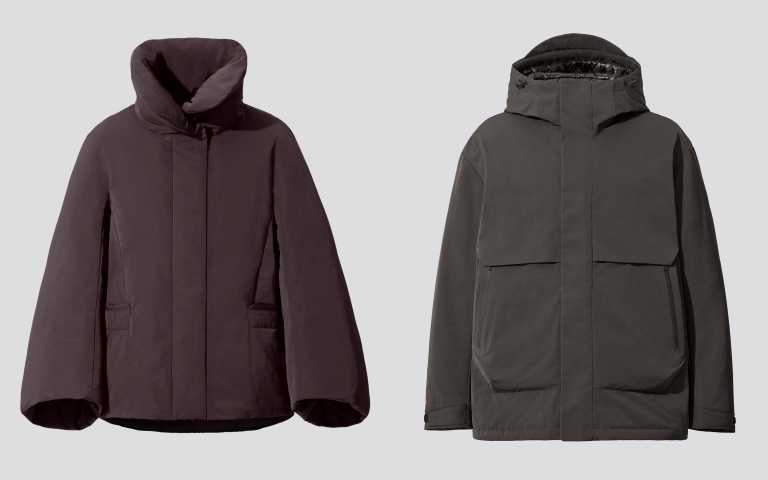 +J Hybrid羽絨外套/4,990元。+J Hybrid羽絨寬版連帽外套/5,990元。(圖/品牌提供)