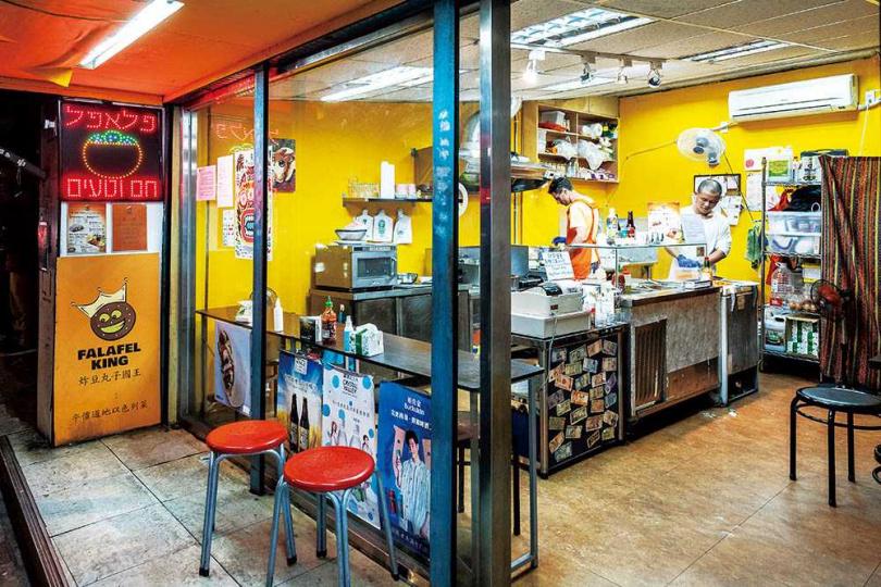 「Falafel King炸豆丸子國王」的店面不大,以外帶為主。(圖/焦正德攝)