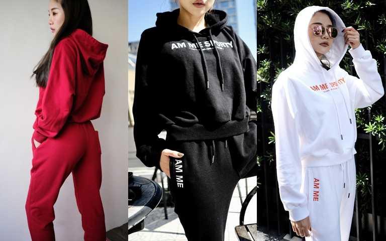 AM ME街頭感重磅純棉連帽上衣/1,280元  白、黑、紅三色都好看。(圖/品牌提供)