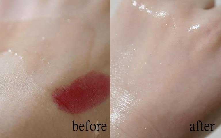 不只是防水睫毛膏、持久口紅,就連那種添加閃亮珠光的眼影也能輕鬆卸除。(圖/IG@naatsunxx)