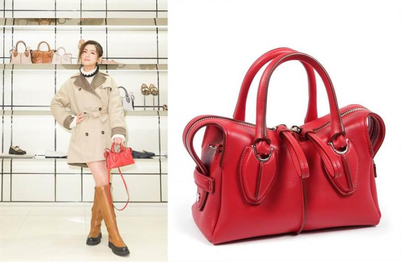 D-styling出了迷你款式,喜歡小包的話,絕對不能錯過!TOD'S D-Styling 光面牛皮手提包48,000元。圖片來源TOD'S