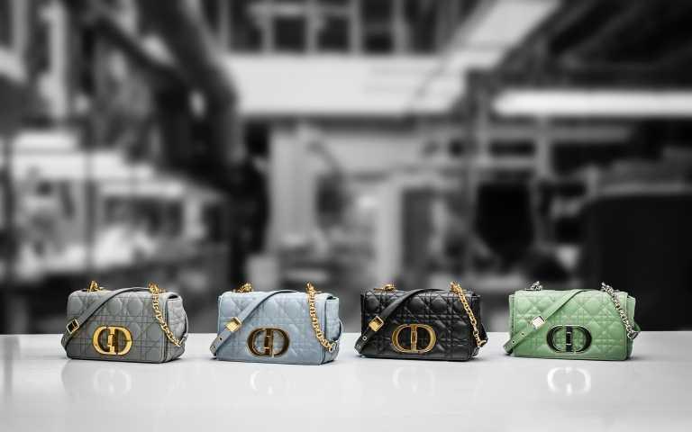 Dior Caro 籐格紋柔軟小牛皮小型翻蓋包/115,000元(圖/品牌提供)