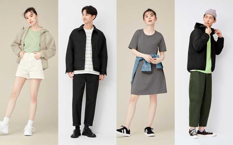 GU 2021春夏男女裝主打輕鬆有型、一衣多穿等搭配理念。(圖/GU)