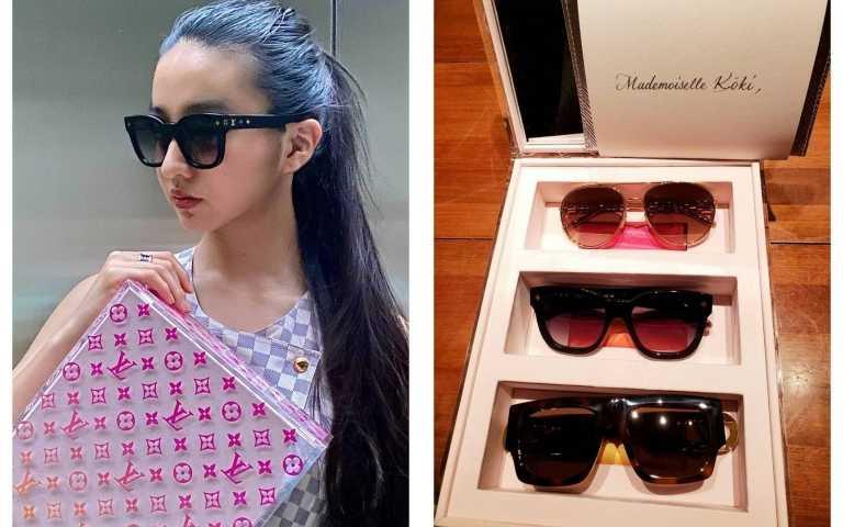 木村光希Koki,曬出最新路易威登大秀邀請禮盒和戴上最新太陽眼鏡。(圖/IG)