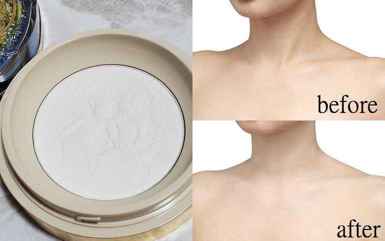 如一層薄紗般,撲上香體粉後的肌膚質感變得明亮柔滑。(圖/品牌提供、IG@_sharanam_)