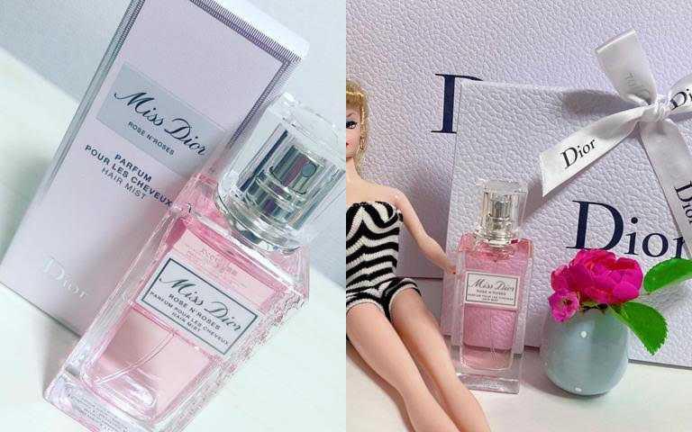 在日本是採限量發售的「漫舞玫瑰髮香噴霧」,完全引發櫻花妹的瘋搶熱潮!有買到的人都會狂曬IG美照。(圖/IG@kaoru_barbie、IG@lannai80)