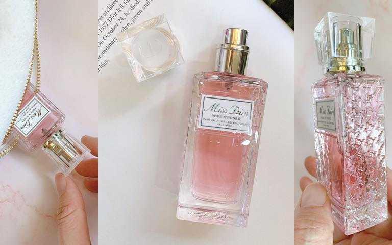 Miss Dior漫舞玫瑰髮香噴霧30ml/1,650元可以增加髮絲保水力,還能隔離異味、阻絕空氣污染,讓秀髮維持一整天的柔軟清新、輕盈飄逸。(圖/吳雅鈴攝影)