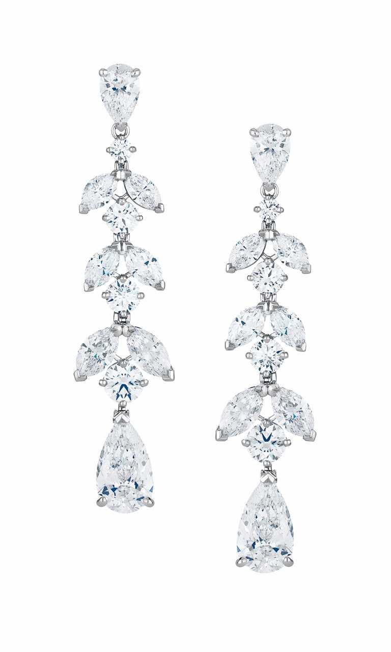 DE BEERS「Aden」系列高級珠寶,鑽石耳環╱4,080,000元。(圖╱DE BEERS提供)