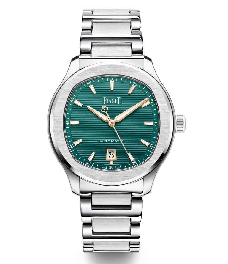 PIAGET「Polo系列」孔雀綠錶盤,精鋼自動上鍊腕錶╱396,000元。(圖╱PIAGET提供)