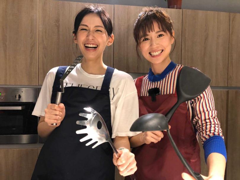 袁艾菲、林予晞一致認同學姊白歆惠最美。(圖/風雅國際娛樂提供)