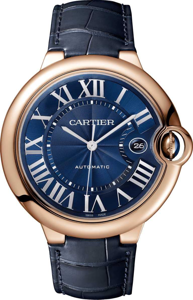CARTIER「Ballon Bleu de Cartier系列」腕錶╱玫瑰K金錶殼,42mm╱485,000元。(圖╱CARTIER提供)