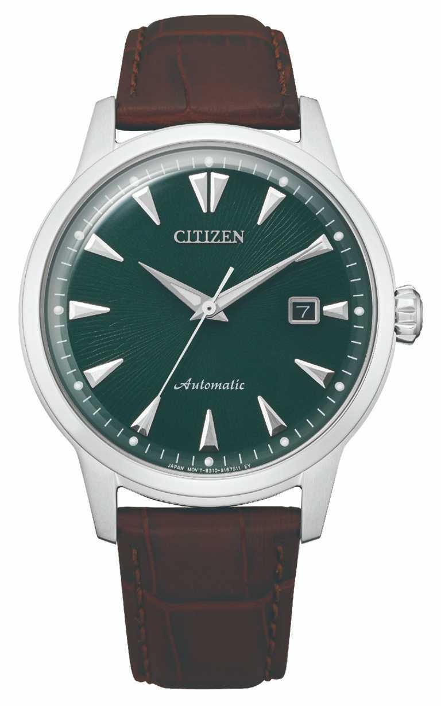 CITIZEN「NK0001-25X黑潮復刻機械腕錶」,不鏽鋼錶殼,41mm,限量1,959只(含錶盒)╱15,800元。(圖╱CITIZEN提供)