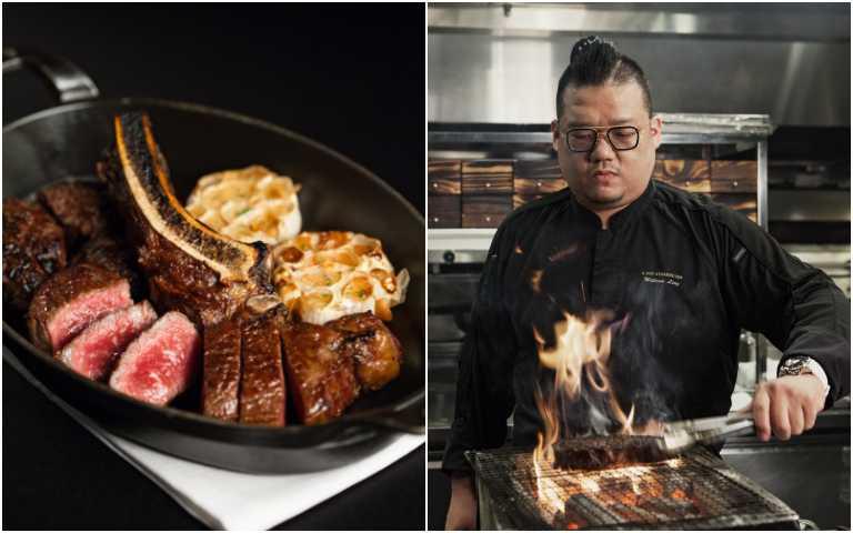 凌維廉主廚率先引進美國Flannery荷斯登牛肉。(圖/台北國賓大飯店提供)