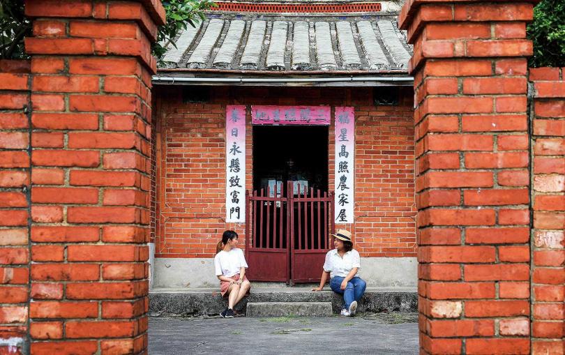 「林家古厝休閒農場」的閩式三合院已有129年歷史,至今仍然維護得很好。(圖/焦正德攝)