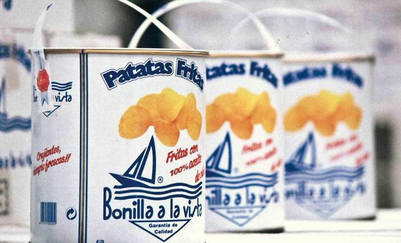 「Bonilla a la Vista西班牙油漆桶馬鈴薯片」原味大桶。(990元,PChome 24h購物)